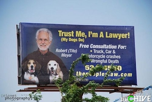 Well, seeming his dogs trust him...