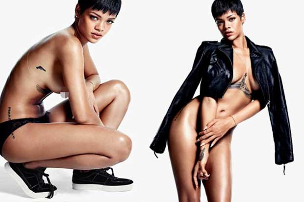 Rihanna Nude On The Cover Of GQ Magazine