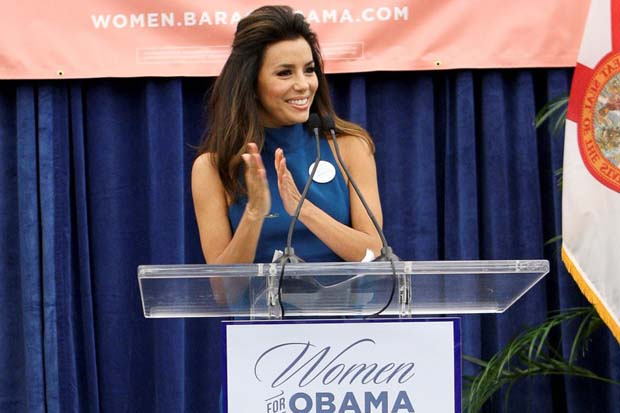 Eva Longoria has made many public appearances supporting Obama and his campaign