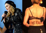 Madonna showed her support by drawing Obama's name on her back while performing on tour.