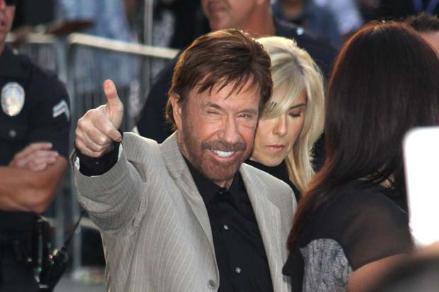 "Chuck Norris supports Romney, saying Obama's reelection would bring ""1,000 years of darkness""."
