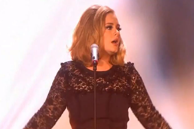 Adele Perfroming 'Rolling in the Deep' at the Brit Awards 2012
