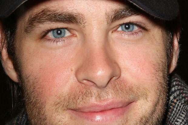 Chris Pine - beautiful bright blue eyes. Competition for Paul Walker!