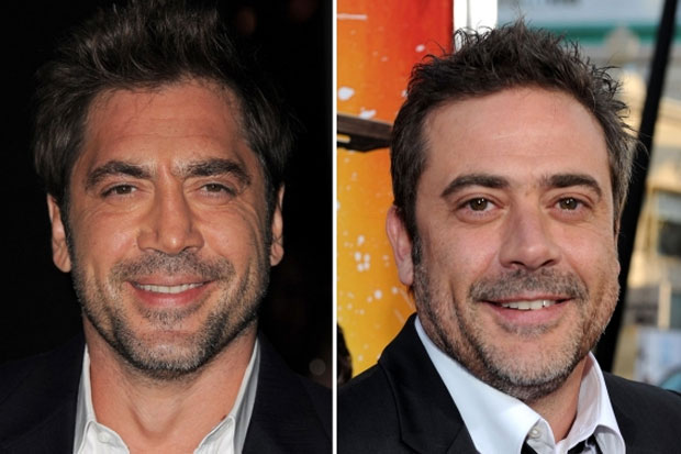 Javier Bardem and Jeffrey Dean Morgan - could almost be the same person