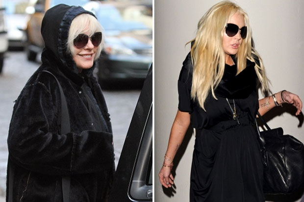 Debbie Harry and Lindsay Lohan definitely have the same look here