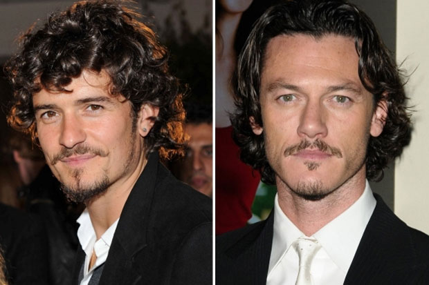 Orlando Bloom and Luke Evans - mmm both very nice to look at