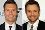 Ryan Seacrest and Joel McHale - the different eye colour seems to be one of the few differences