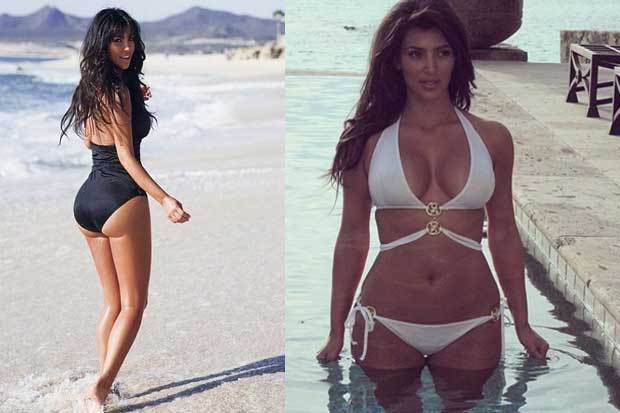 Every Photo Of Kim Kardashian In A Bathing Suit That She Has Posted This Summer