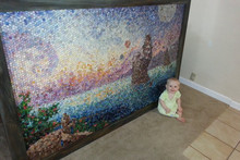 Mum Uses Children's Playdoh to Create Mosaic Art