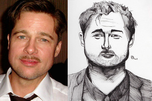 Brad Pitt looks more square-jawed in this fan art version.