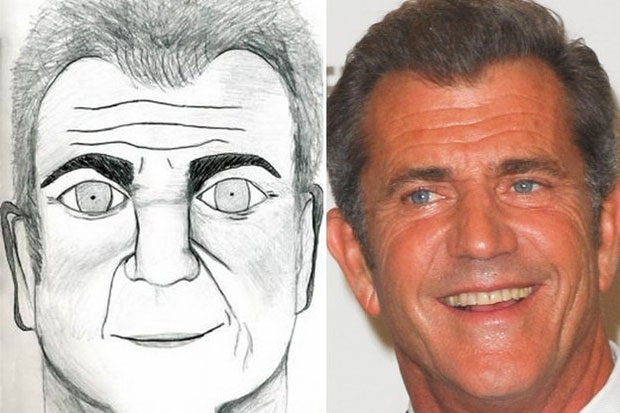 Stare deep into Mel Gibson's eyes.