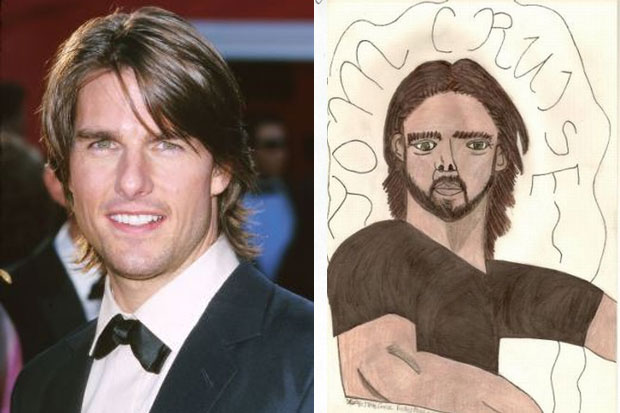 If you squint I guess it looks like Tom Cruise.