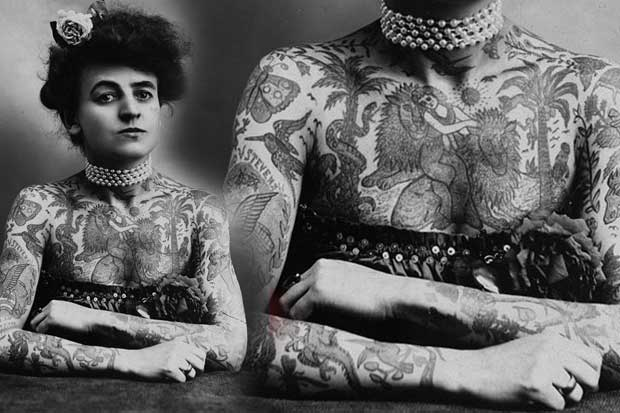 Maud Wagner, the first well-known female tattoo artist/badass in the United States, 1907.
