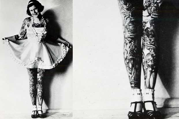 Yes, you can look elegant covered in ink. Betty Broadbent, 1930s.