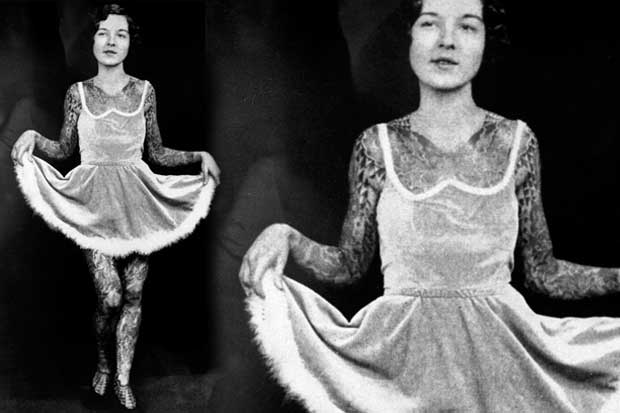 Miss Stella Grassman, BAMF and tattoo artist, 1930s.