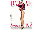 """The pants-free look then made its way to the cover of """"Harper's Bazaar Brazil."""""""