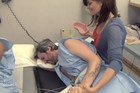 Men Experience Labour Pain Simulation