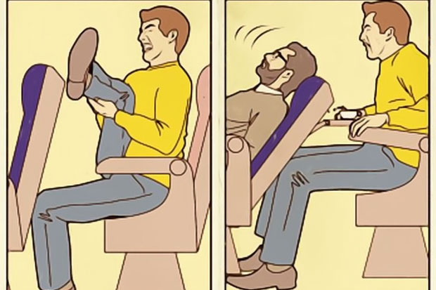 Good luck trying to get enough room when you're in an airplane seat.