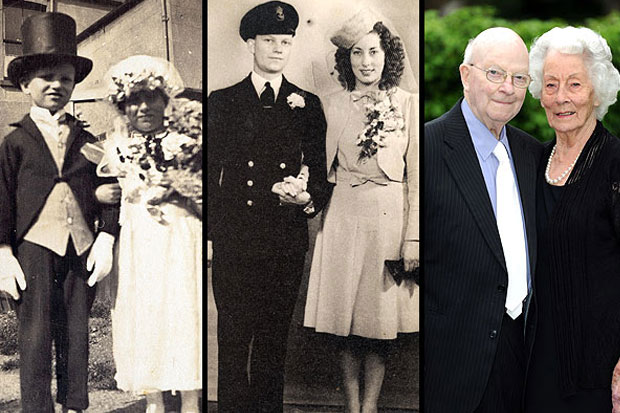 Couple Who Posed as Bride & Groom at Age 4 Still Going Strong at 91