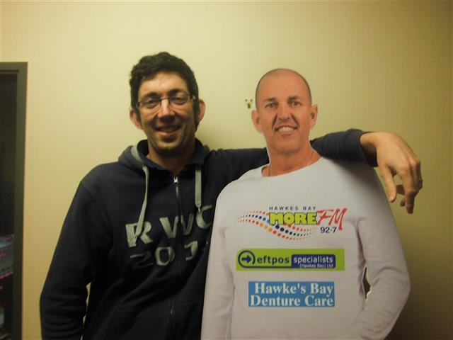Andrew Frame meets his Hawkes Bay Denture Care Waggs Cut Out for the first time!  Text LIVE ANDREW to 559 to vote for Andrew.  Texts cost 20c. One vote per number per day.