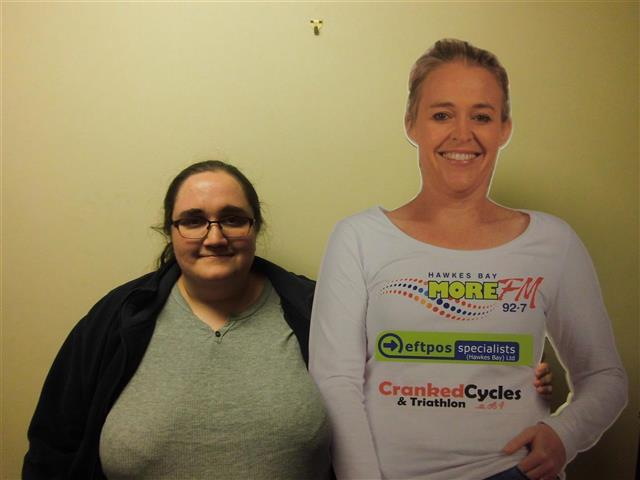 Lisa Wojcik meets her Cranked Cycles Amy Cut Out for the first time!  Text LIVE LISA to 559 to vote for Lisa.  Texts cost 20c. One vote per number per day.