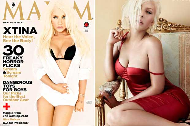 Christina Aguilera On The Cover Of Maxim