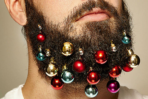 Make Your Man Festive for Christmas With Beard Baubles