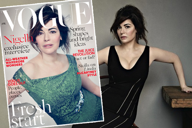 Nigella's Faux Natural Look for Vogue UK