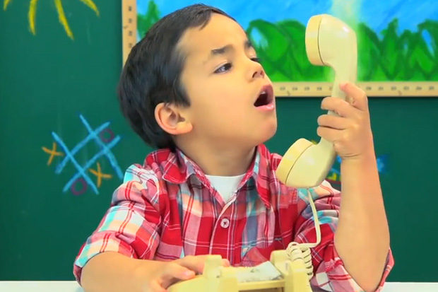 Kids Discover What a Rotary Phone is