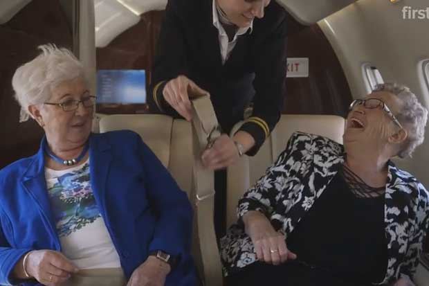 Two 70-Year-Old Women Learn the Delight of Travelling On a Plane for the First Time