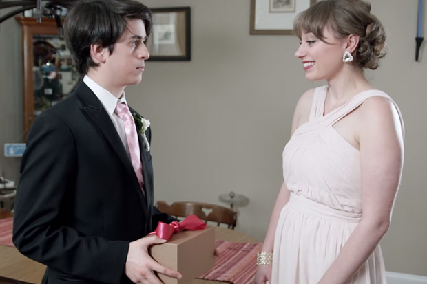 "KFC suggests asking a girl to prom with a fried chicken corsage to make it ""less awkward""."