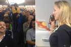 Flight attendant adds some comedy to her in-flight safety messages