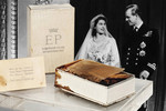 The Most Expensive Cake Slice: Duke and Duchess of Windsor's 1937 wedding cake from Sotheby's in New York. $29,900