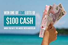 Win One of FIVE Lots of $100 Cash this Summer with MusicLab
