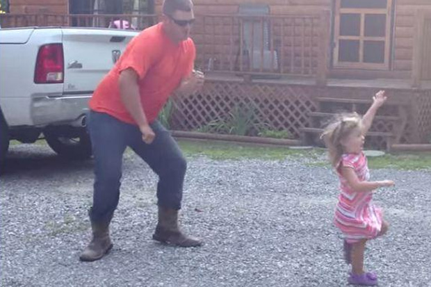 This Dad And Daughter Dance Off Is Seriously Adorable