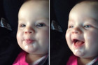 Baby Giggles At Herself While She Blows Raspberries