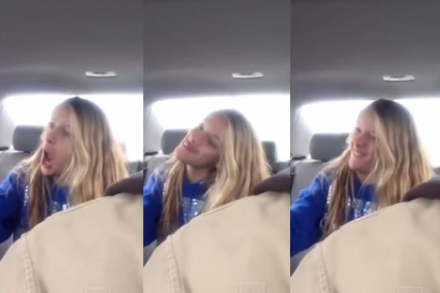 Dad Secretly Films Daughter Taking 'Weird Selfies' In Car