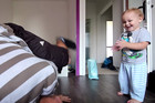 Father Teaches His Adorable 20-Month-Old Son To Breakdance