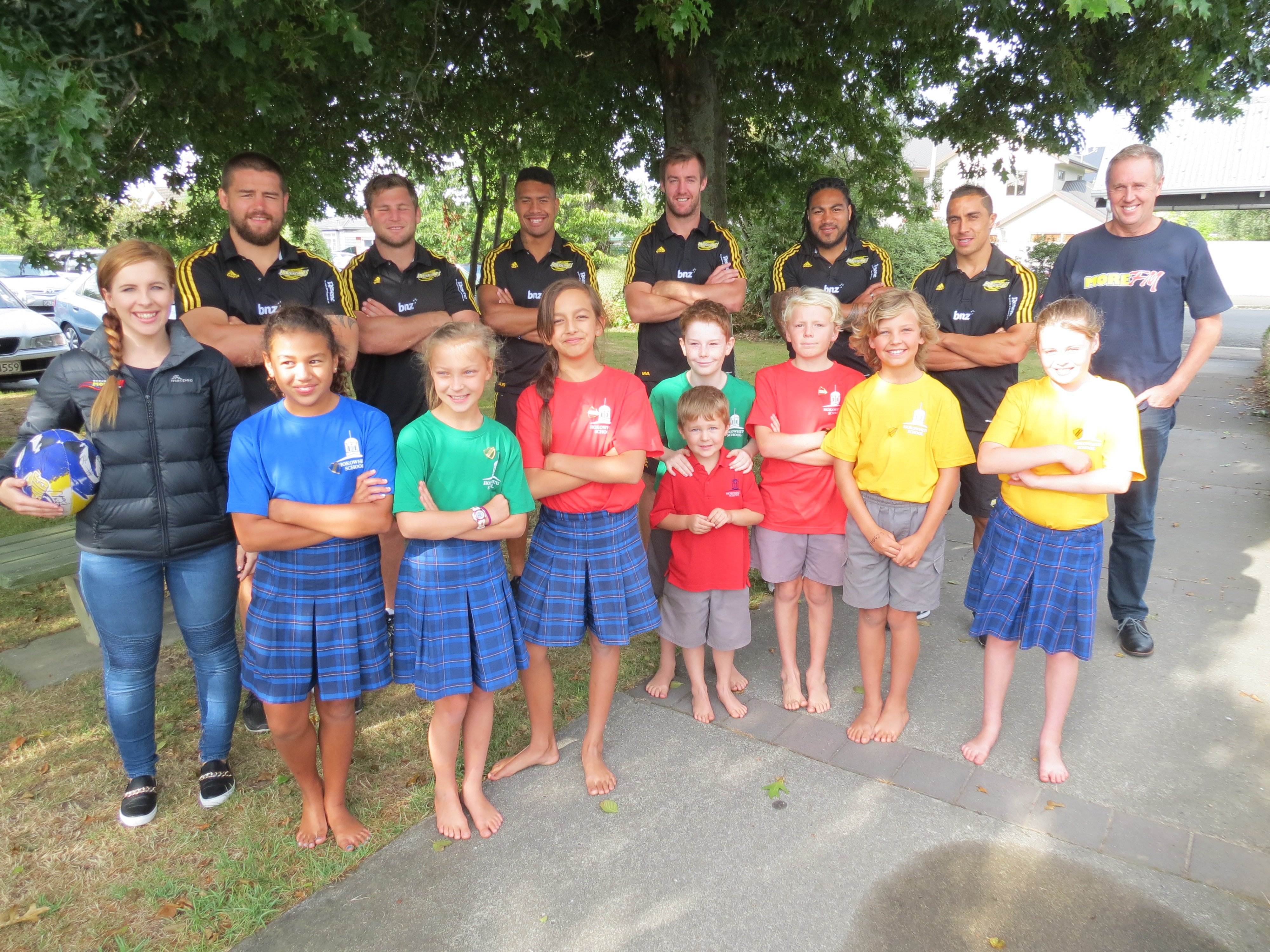 More FM Manawatu - Hurricanes School Visits 2015