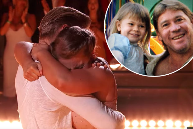 Bindi Irwin cries during tribute for Steve Irwin on Dancing With The Stars