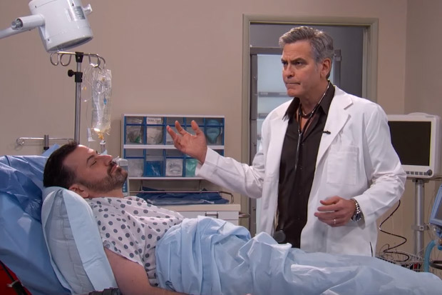 George Clooney returns to the E.R! (sort of...)