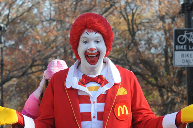 The creepy clown craze has driven Ronald Mc Donald into hiding