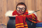 Adorable 3 month old gets a full on Harry Potter photoshoot