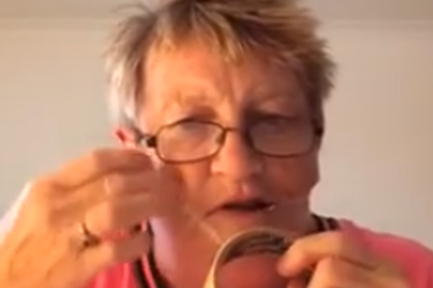 Hilarious Scottish Gran says the key to looking young is in cellotaping your face!