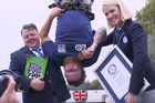 Man creates world record for highest bungee jump biscuit dunk