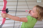 Girl uses bow and arrow to pull out her own tooth