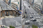 Thirty metre large Japanese sinkhole disappears in two days