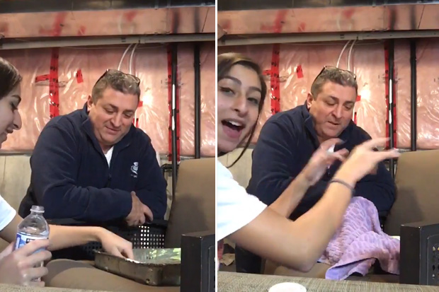 Daughter's prank on dad backfires on her