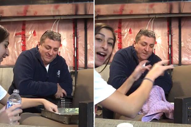 Daughter's prank on dad backfires on her