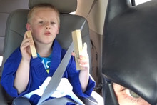BatDad encourages son to practice karate, ends with a telling off